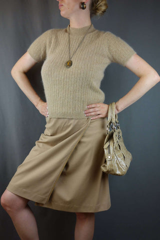 David Lawrence Ladies Beige Skirt Size 10 + M&S Top - £10.00