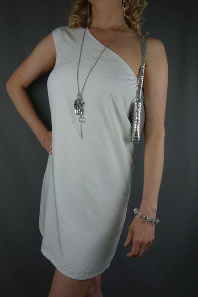 Mango White Mini One Shoulder Party Sexy Dress Size S - £10.00