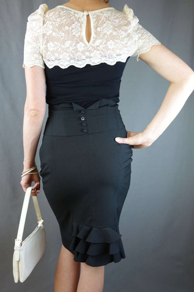 Size S Top by Oasis + Black Pencil Skirt - £10.00 GBP