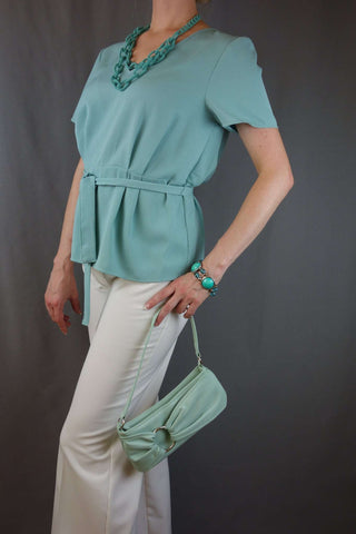 Next White Trousers Size 10 + Top by TU, Turquoise - £10.00