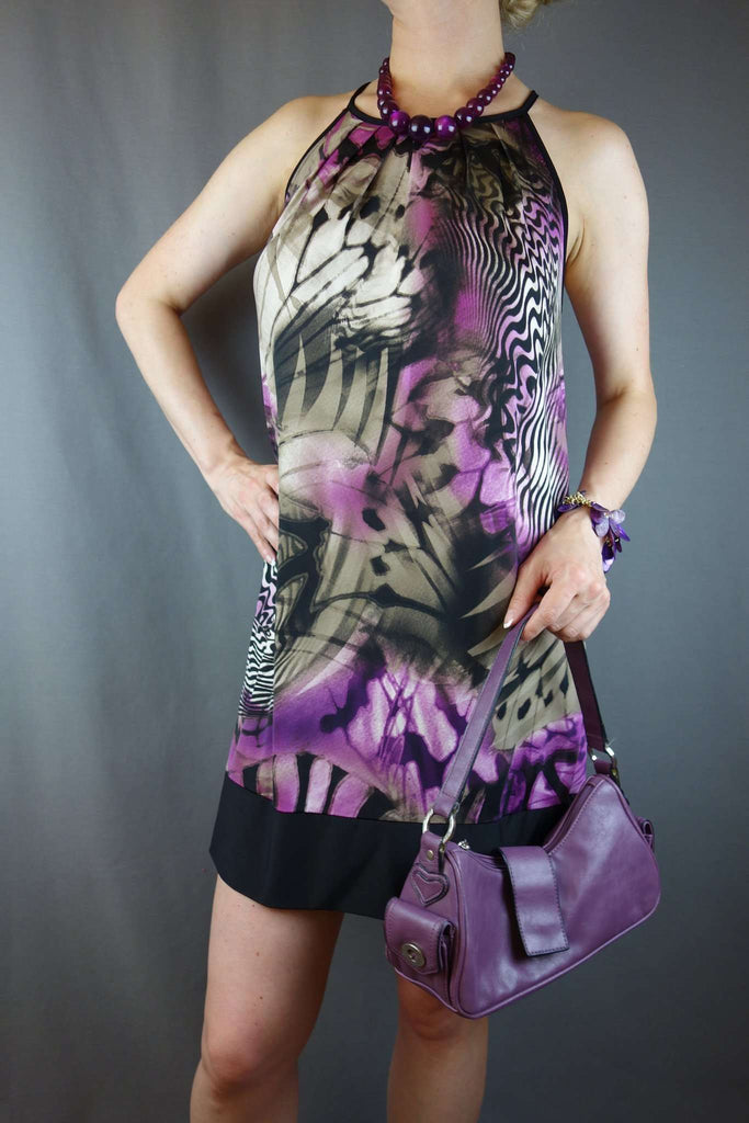 Purple Black Short Casual Party Dress Size 12/14 by TU - £10.00 GBP