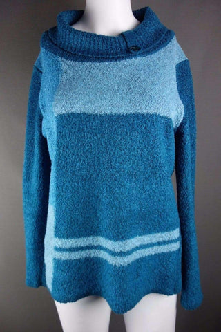 BM COLLECTION Blue Turquoise Jumper Size S - £5.00