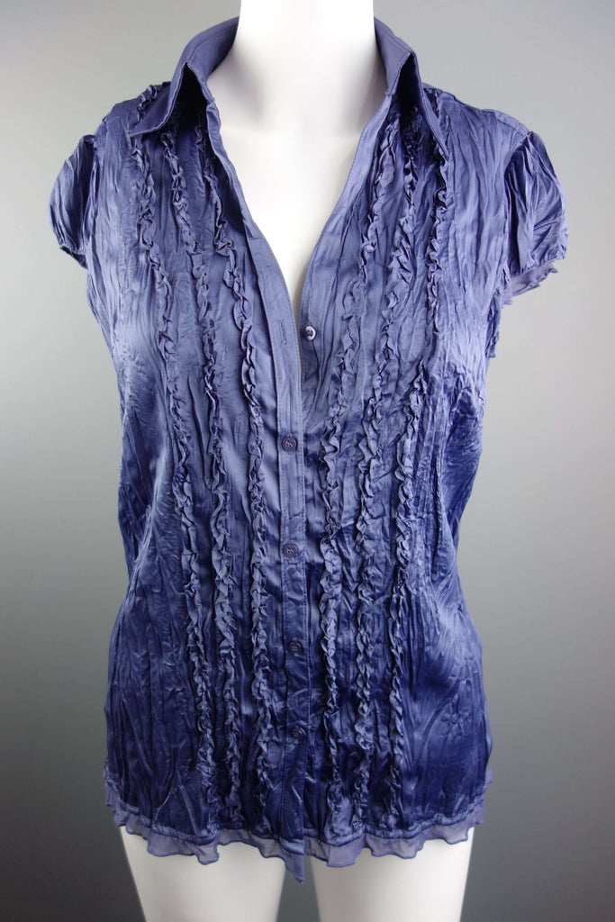 Navy Blue Top Shirt Blouse by Next Size UK 8 - £5.00 GBP