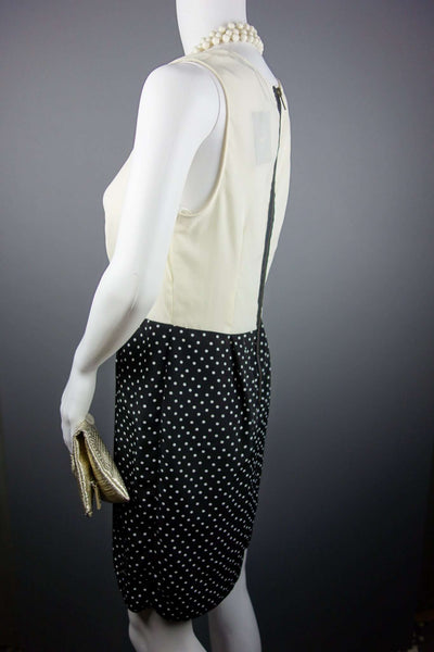 Smart Dress Cream Black Polka Dots Size UK 12