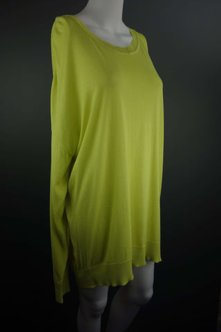 Yellow Jumper with Long Sleeves Size UK 20 (EUR 46-48) - £7.50