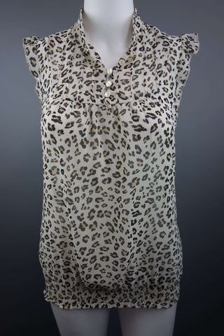 New Look Animal Print Top Blouse Size UK 8 (EUR 36) - £5.00