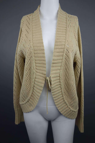 Beige Cardigan Size UK 14-16 (EUR 42-44) by Damart - £7.50