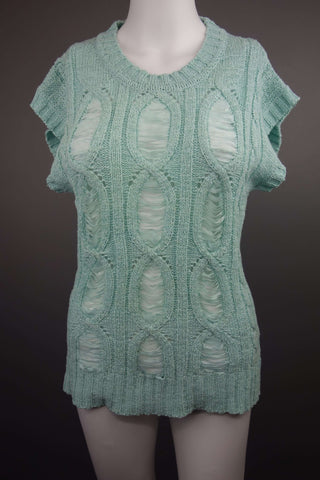 Green Short Sleeve Jumper Size UK 10 (EUR 38) - £7.50