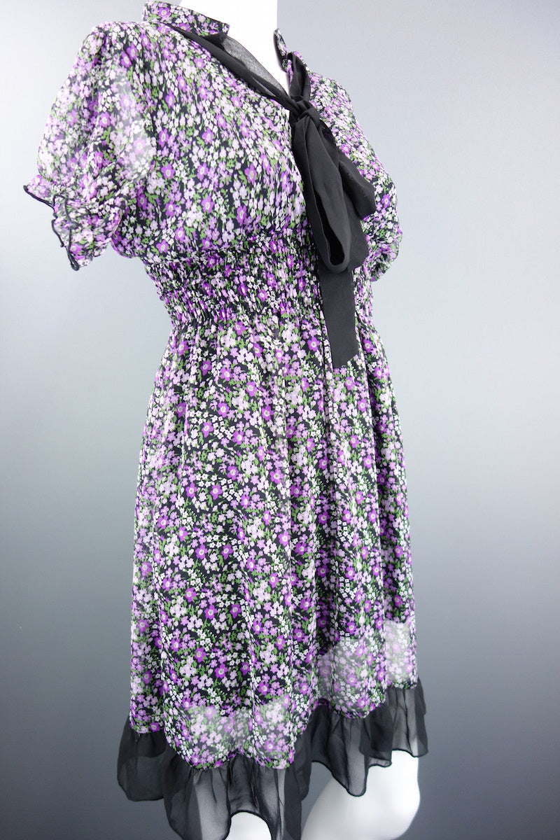 5eb4e5d3dd Mela Loves London Purple Mix Floral Dress Size UK 12 - Miss Glamess