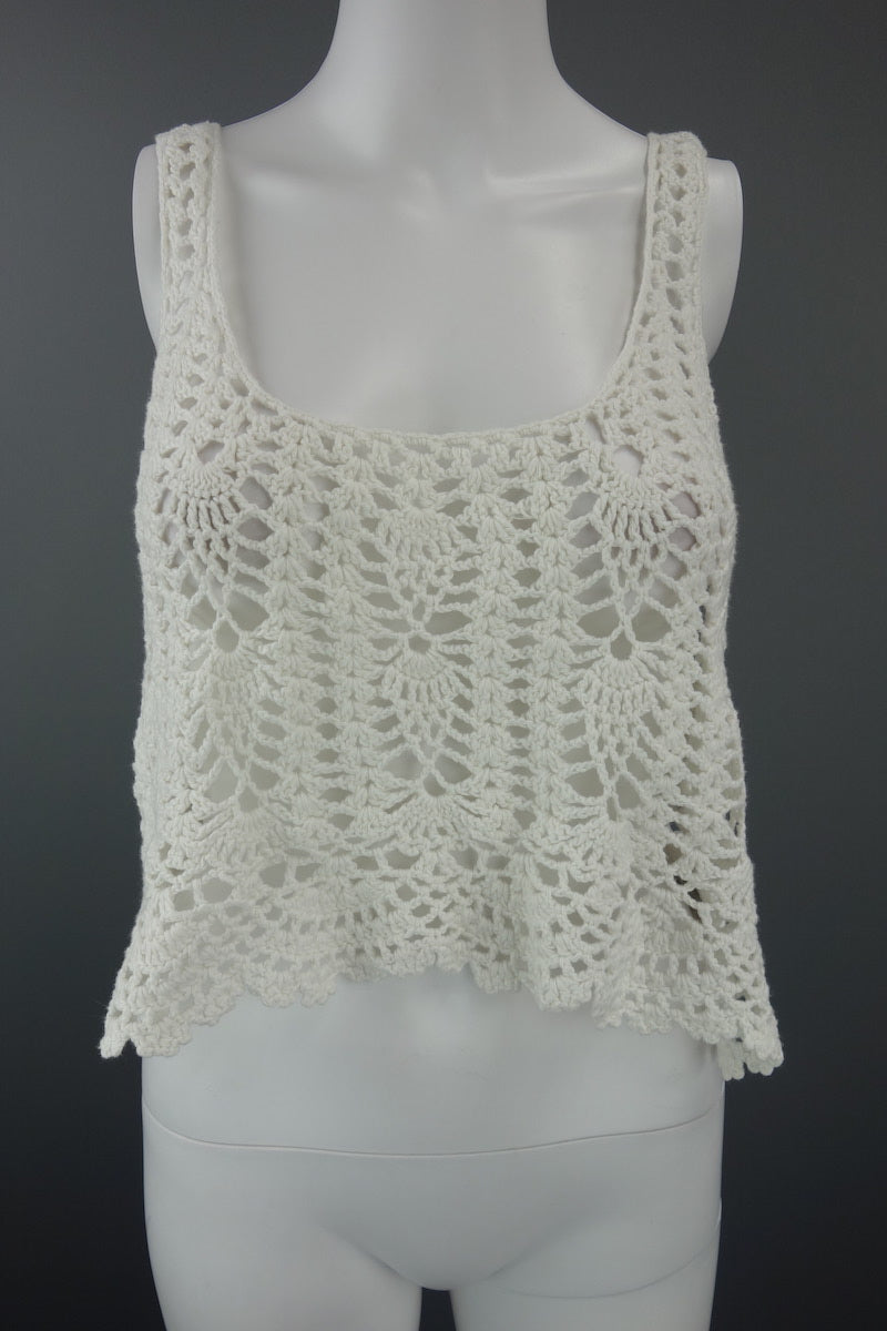 8c5ea471273 H&M Off White Knitted Crop Top Size UK EUR L - Miss Glamess