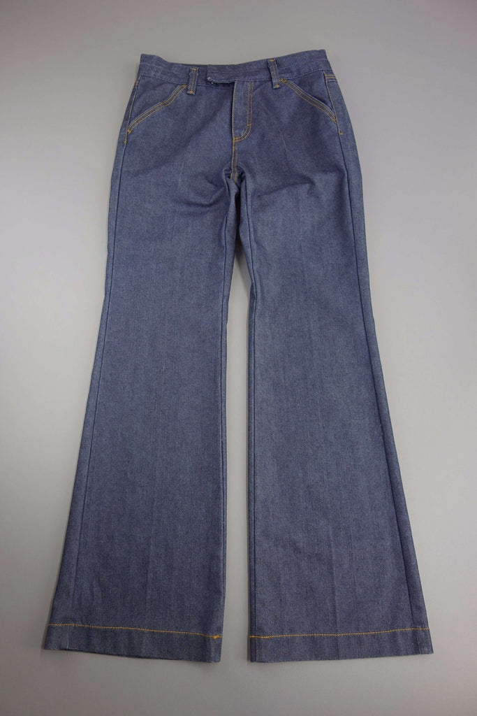 Denim Navy Blue Trousers by M&S Size UK 10 Medium