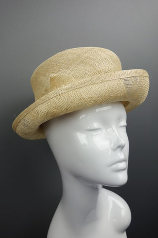 Accessorize Beige Natural Bow Smart Summer Hat - Miss Glamess