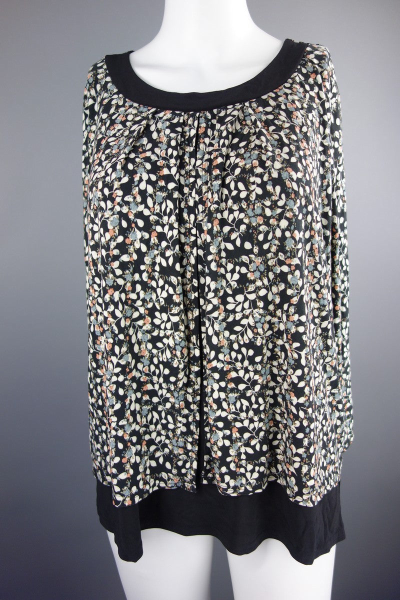 8e294add Classic Black Mix Flowers Top Blouse Size 18 - Miss Glamess