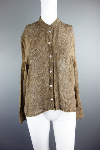 Olsen Brown Shirt Top Size UK 10