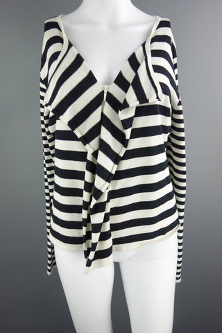 Galeries Lafayette Cream Black Cardigan Size 4 (UK 12) - £8.00