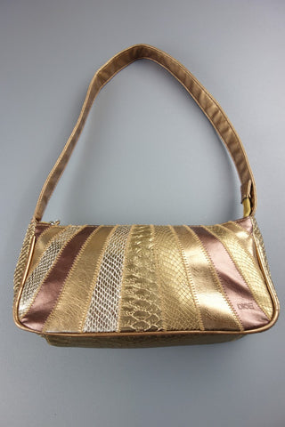 Gold Brown Small Handbag