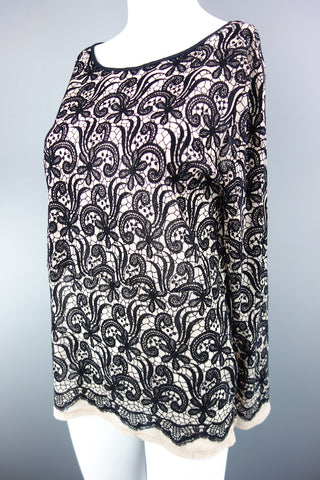 Next Black Long Sleeve Top Size UK 14 (EUR 42) - £6.00
