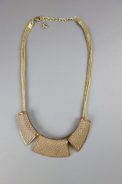 Brown Snake Print Necklace