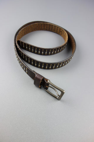 Silver Gold Studded Brown Belt