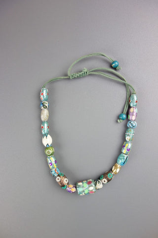 Green Multicoloured Casual Necklace