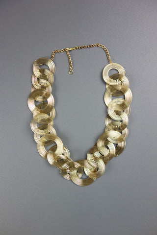 Gold Look Chunky Lightweight Necklace