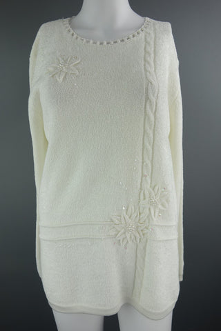 Cream Soft Jumper by Eternal Size M/L - £8.00