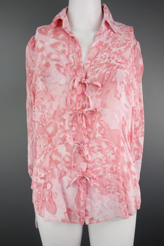 6b14a5c552fdba M S Marks   Spencer Peach Pink Top Blouse Size UK 10