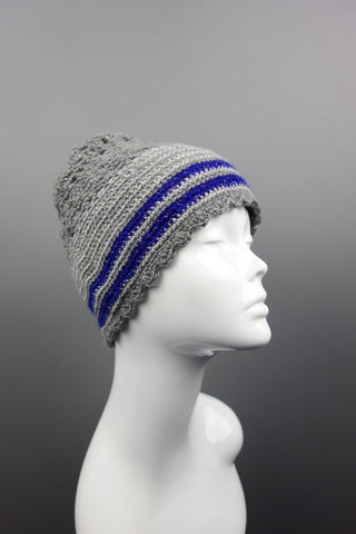 Wool Knitted Grey Beanie Style Watch Cap Hat