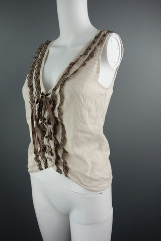 8d5a76297dc Divided Brown Dusty Pink Sleeveless Top Size 8 (H&M ...
