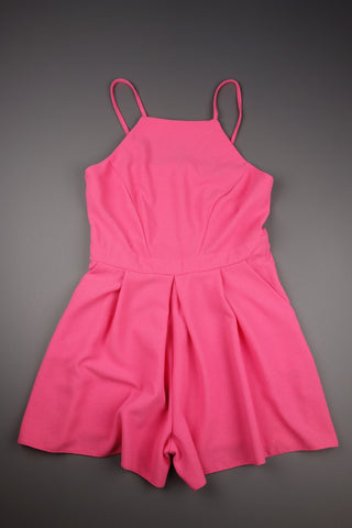 Pink Strappy Playsuit Size UK 10 (EUR 36-38) - £9.00