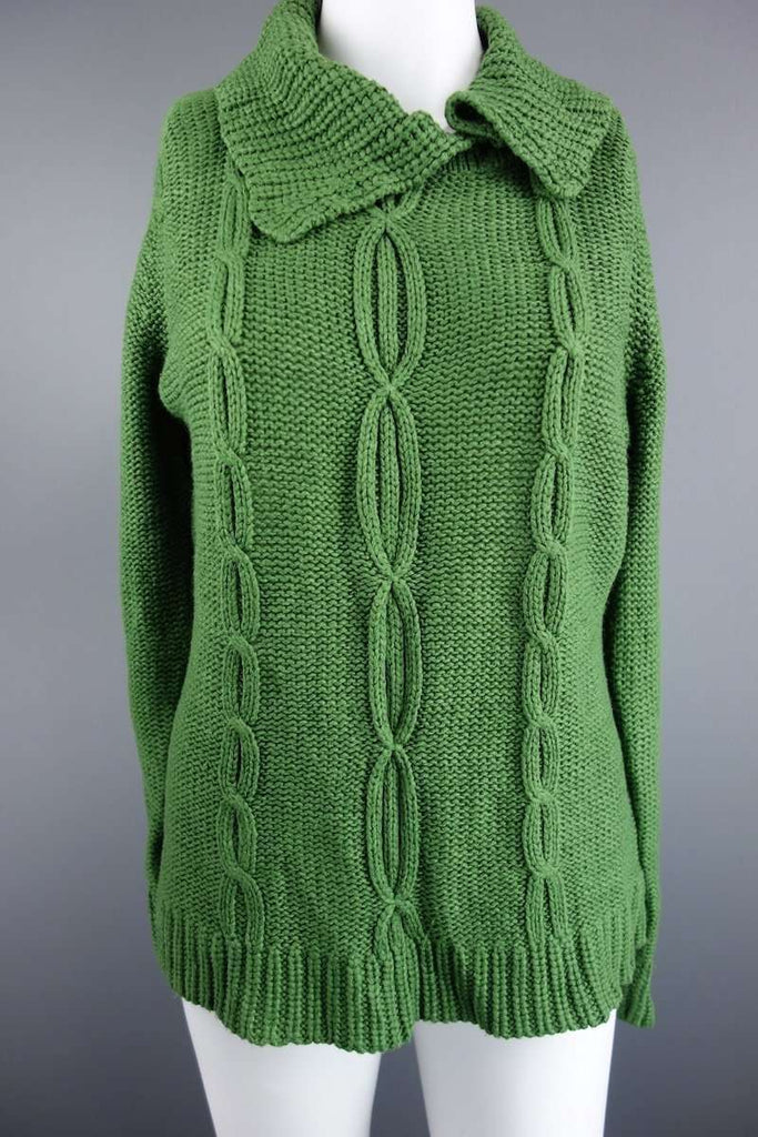 Green Long Sleeve Jumper Size S by BM