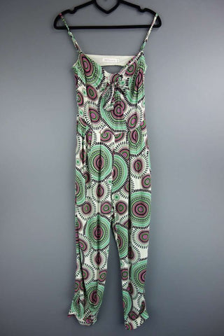 Millenium Green Multicoloured Strappy Jumpsuit Size S - £10.00