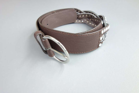 Mocha Brown with Rhinestones Feature Belt - £5.00