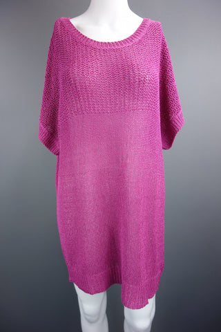 Pink Short Sleeve Jumper by Savoir Size UK 18-20 - £8.50