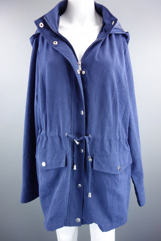 00c90a705dcf54 Navy Blue Coat with Hood by BHS Size UK 18 (EUR 46) - £