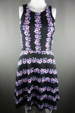 773a66e1ca3 Crew Neck by H&M Dress Size XS - 6 Black Multi Flowers Sleeveless - £10.00