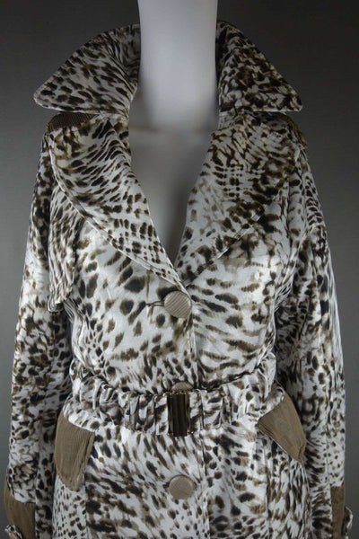 Mac Coat by Rosa Rose Size S Fully Lined Animal Print Brown