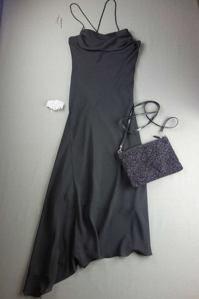 Fully Lined Black Party Asymmetric Dress by BAY Size 10