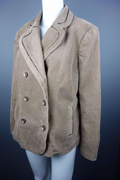 M&S (Marks & Spencer) by Per Una Beige Brown Corduroy Jacket Size 14