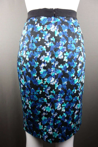 Pencil Skirt US Size 4 / UK 8 Blue Floral by Ann Taylor