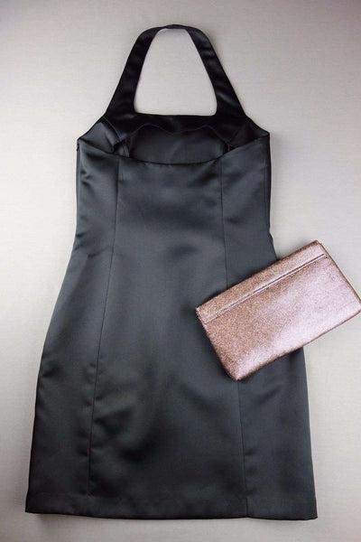 Little Black Mini Halterneck Party Dress Size 10