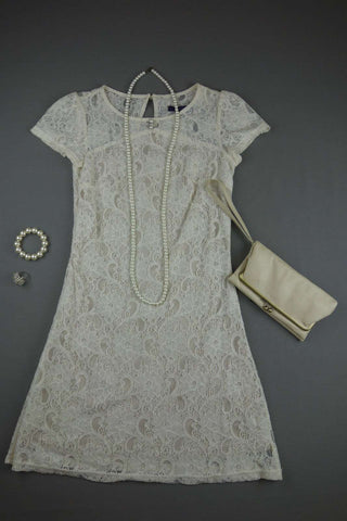 Cream Lace Short Dress by SUGARHILL BOUTIQUE Size XS - £10.00 GBP
