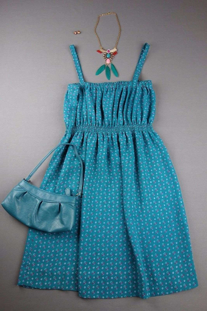 POP ENGLAND Strappy Turquoise Blue Dress Size 8- 10