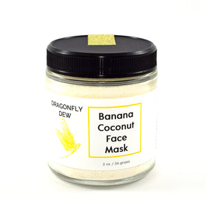 Banana Coconut Face Mask - Dragonfly Dew