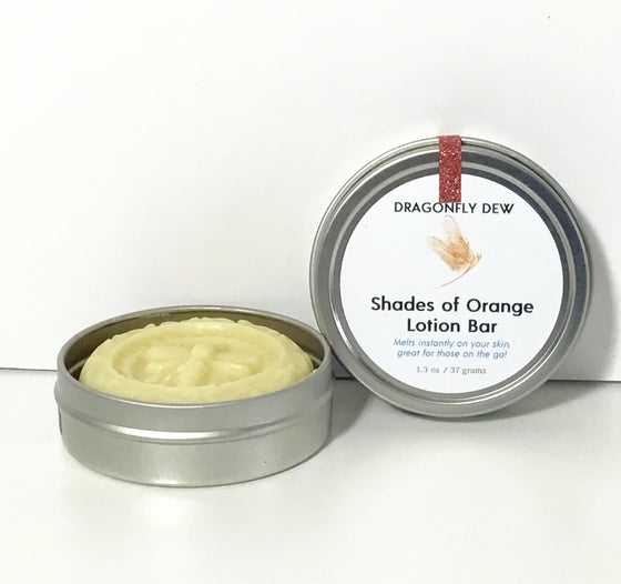 Shades of Orange Moisturizing Lotion Bar - Dragonfly Dew