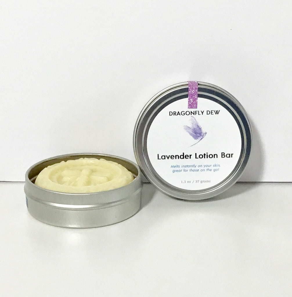 Lavender Moisturizing Lotion Bar - Dragonfly Dew