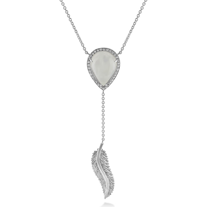 Feather + Moonstone + Diamond