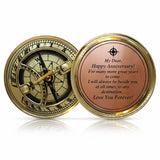 OakiWay Anniversary Sundial Compass - Amazing Anniversary Gift For Your Spouse