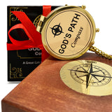 OakiWay God's Path Compass - Super Unique Inspirational/Religious Gift