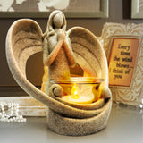 OakiWay Memorial Gifts - Sympathy Angel Tealight Candle Holder